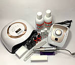 Стартовый набор для маникюра Kodi с лампой Sun BQ-V1 Gold и фрезером DM-206