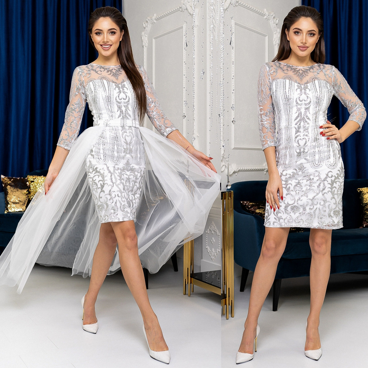 """Весільна сукня-трансформер 2в1, плаття на розпис, вінчання, випускний """"Imperia new"""""""""""