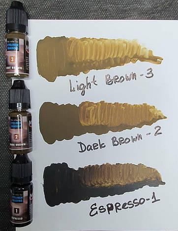 Пігмент Magic Cosmetic Eyeliner Shading Dark Brown #2, 5ml, фото 2
