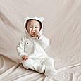 Трикотажний чоловічок-комбінезон Magbaby Nory демисезон молочний, фото 7