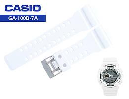Ремінці Casio G-Shock GA-100B-7A WHITE
