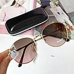 Стильные солнцезащитные очки с розово-коричневой линзой, фото 4