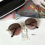 Стильные солнцезащитные очки с розово-коричневой линзой, фото 6
