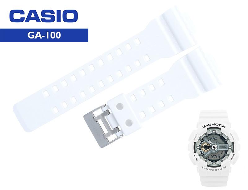Ремешки Casio G-Shock  GA-100A-7A WHITE