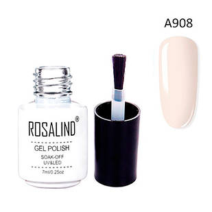 Гель-лак для ногтей маникюра 7мл Rosalind, шеллак, А908 морская ракушка