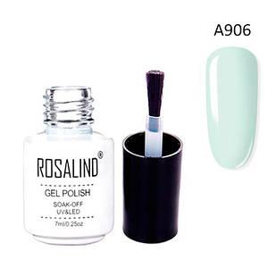Гель-лак для ногтей маникюра 7мл Rosalind, шеллак, А906 мятный панг
