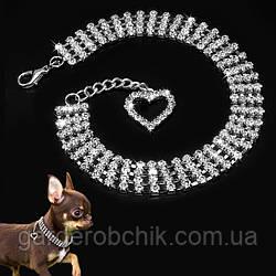 """Колье, ожерелье """"ОДРИ"""" для собаки, кошки. Украшение для собаки."""
