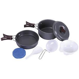 Набор посуды туристической KingCamp Climber 1 KP3910, светло-серый
