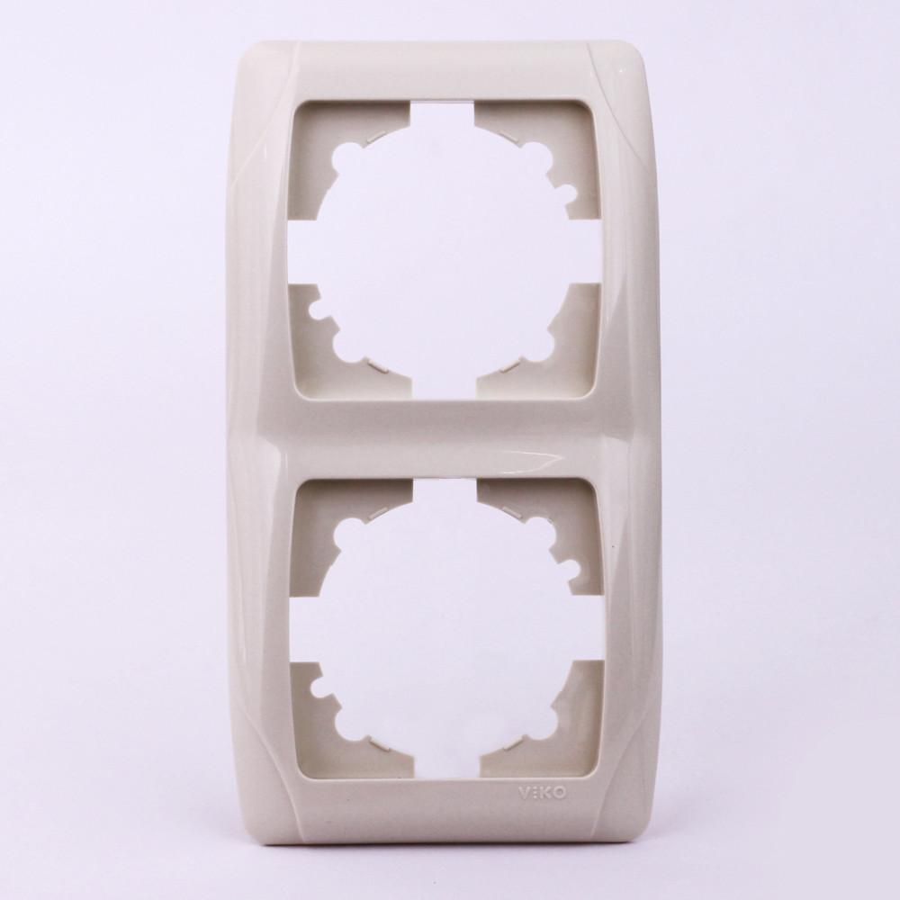Двойная рамка VI-KO Carmen вертикальная скрытой установки (кремовая)