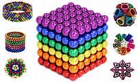 Неокуб Neocube кольоровий 216 неодимових 5мм кульок сфер Магнітний конструктор-головоломка Neo cube веселка