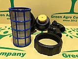 Фільтр обприскувача всмоктуючий з запірним клапаном великий (коліно 50 мм) Фільтр на ОП-2000, фото 4