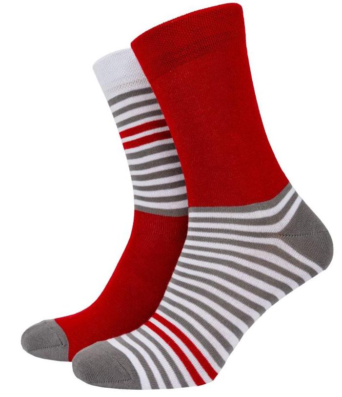 Носки Mushka Gray-red stripe (GRS001) 41-45