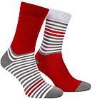 Носки Mushka Gray-red stripe (GRS001) 41-45, фото 2