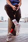 Носки Mushka Gray-red stripe (GRS001) 41-45, фото 3
