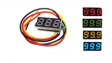 Цифровий вольтметр DC 0-100в (3 проводу) Жовтий, фото 2