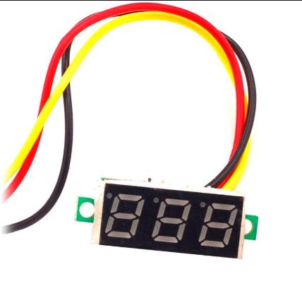 Цифровой вольтметр DC 0-100в (3 провода) Синий, фото 2