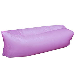 Шезлонг надувний ламзак Lamzac мішок 240*70см R16332 Violet