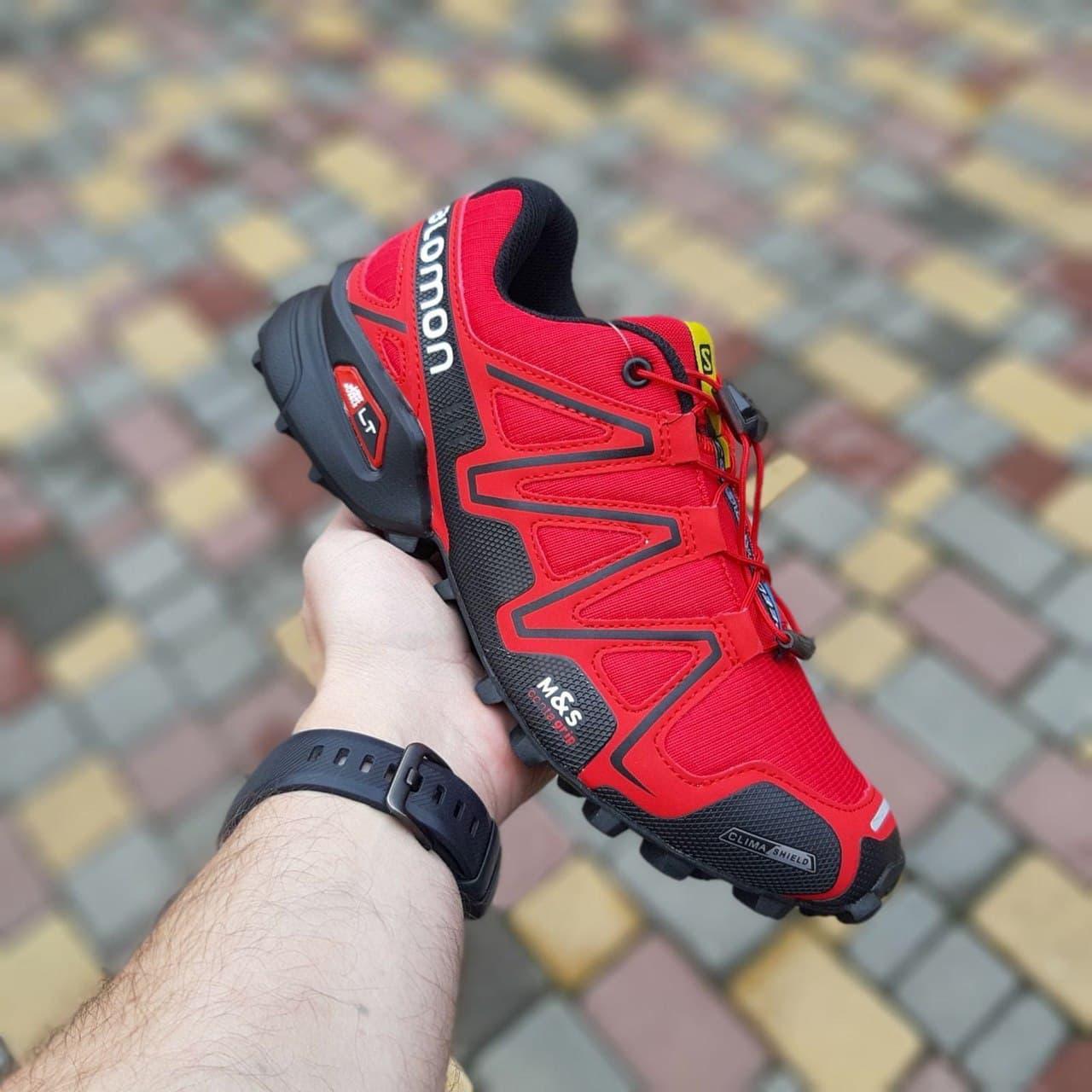 Мужские кроссовки Salomon Speedcross 3 (красные) О10327 качественные модные кроссы