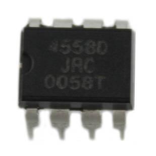 Чіп JRC4558D JRC4558 DIP8, Операційний підсилювач 2-канальний