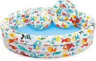 Надувный бассейн с мячиком и кругом Intex 59469