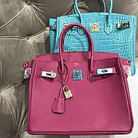 Жіноча сумка Гермес Біркін 30 см бордо (репліка), фото 1