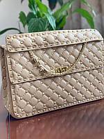 Женская сумочка Valentino Garavani Rockstud 30 см (реплика)