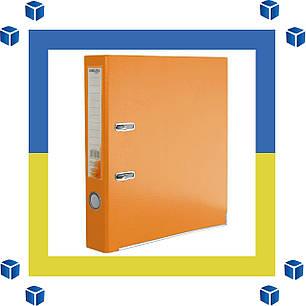 Папка - регистратор (сегрегатор) А4/50 Delta (оранжевая-односторонняя), фото 2