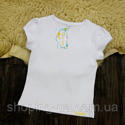 Детская футболка белая со сборками на рукавах Five Stars KD0461-104р, фото 2