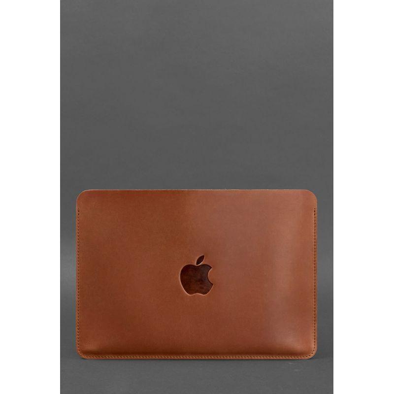 """Горизонтальний шкіряний чохол для MacBook Air/Pro 13"""" Світло-коричневий"""