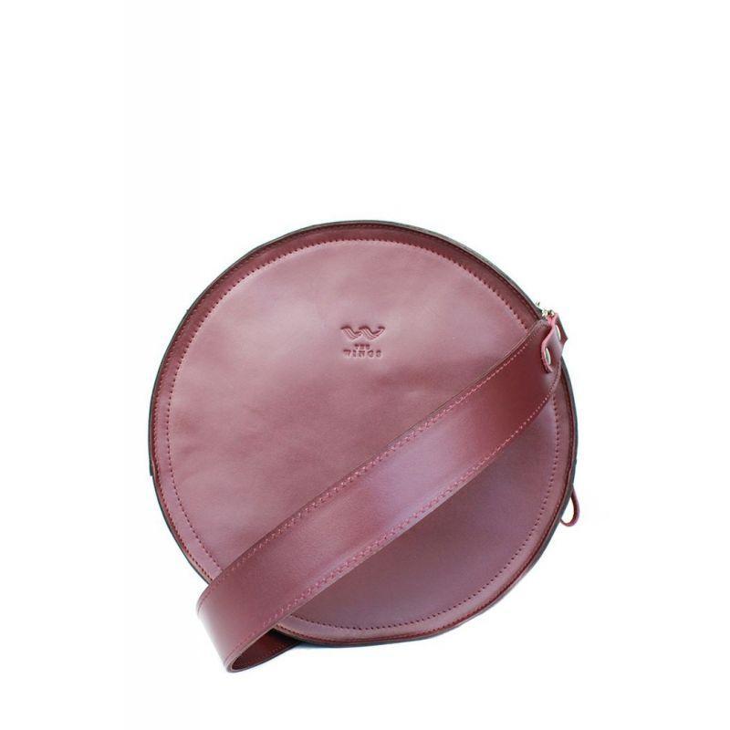 Женская кожаная сумка Amy L бордовая