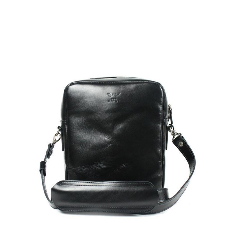 Кожаная сумка Challenger S черная
