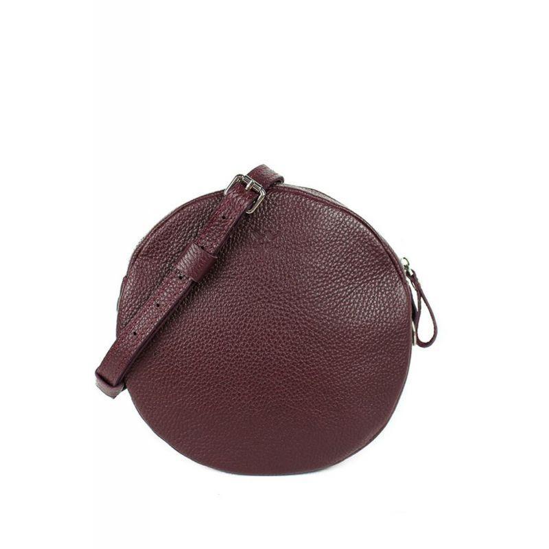 Женская кожаная мини-сумка Bubble ежевика
