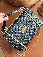Жіноча сумочка Valentino Garavani Rockstud 30 см (репліка), фото 1