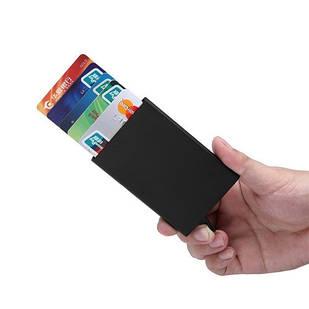 Кредитница картхолдер візитниця карточница кишенькова, метал