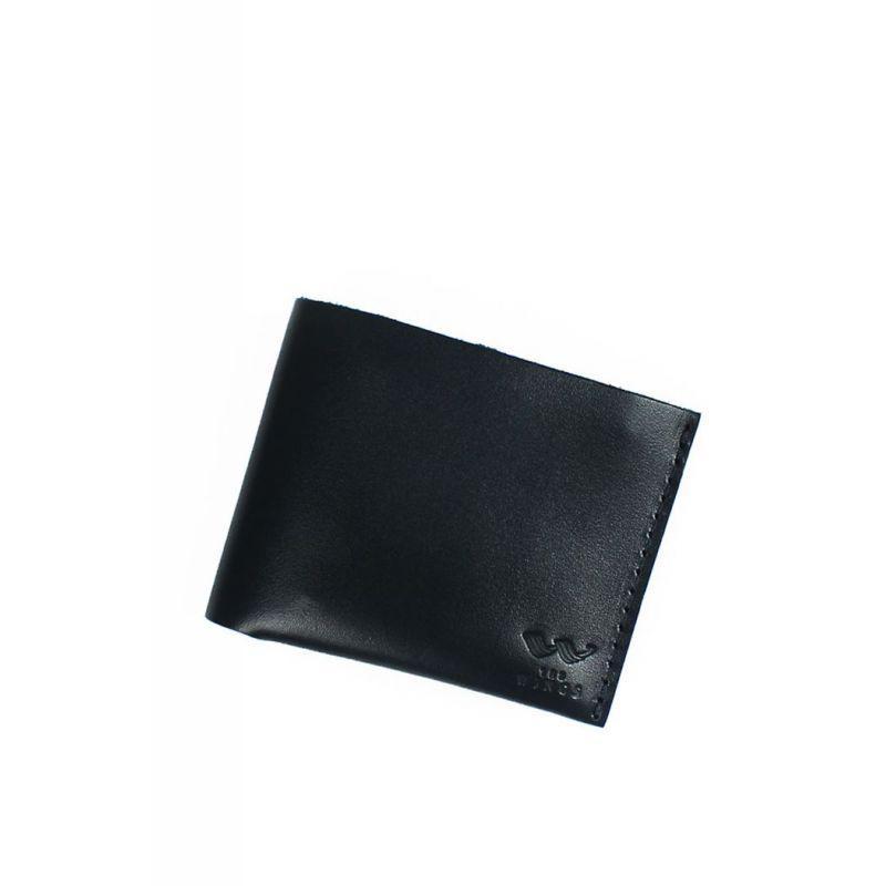 Кожаный кошелек Mini с монетницей черный