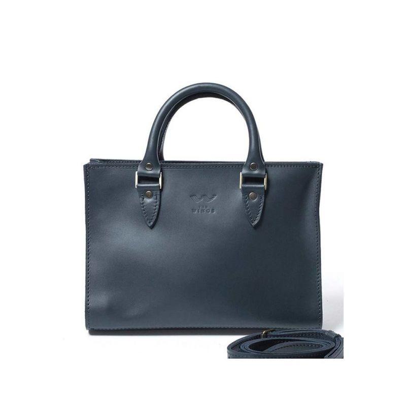Женская кожаная сумка Fancy синяя
