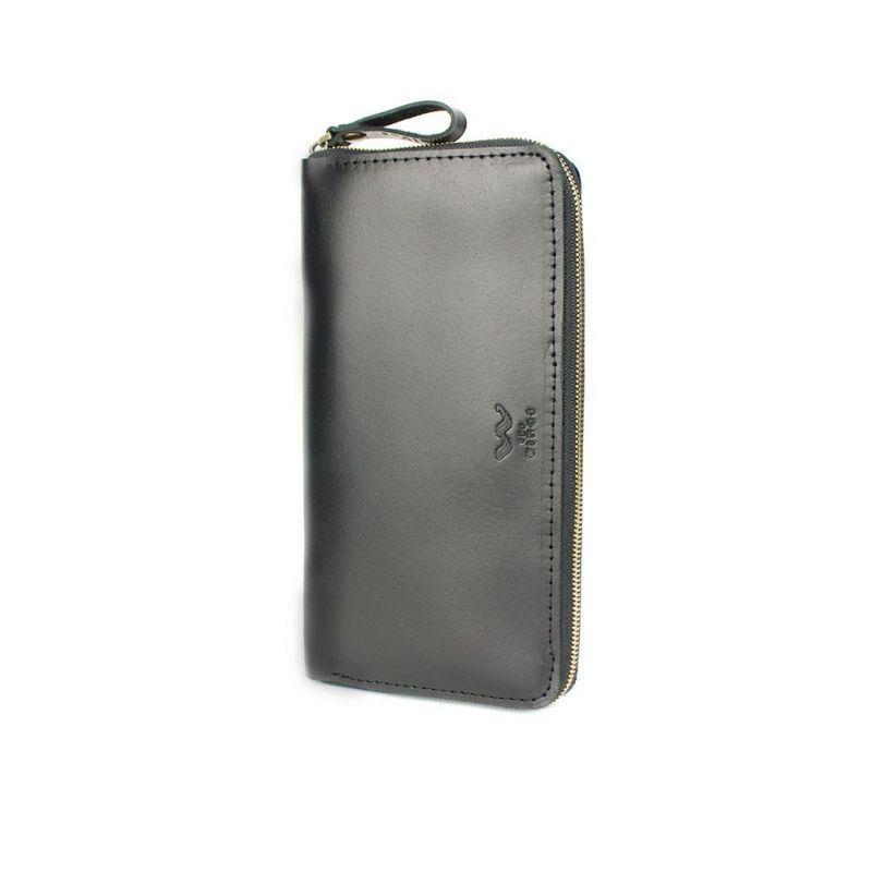 Шкіряне портмоне Keeper zip чорний