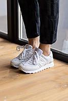 Белые кроссовки New Balance 574 White (Нью Баланс кожаные мужские и женские размеры 36-44)