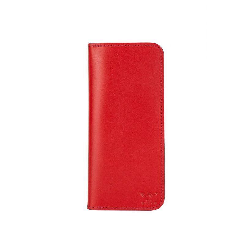 Шкіряне портмоне Middle червоне