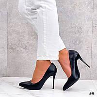 Шикарные женские  туфли на шпильке из эко кожа 36-40 р чёрный, фото 1