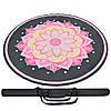 Круглий килимок для йоги з чохлом замшевий каучуковий двошаровий 3мм Record FI-6218-1-C