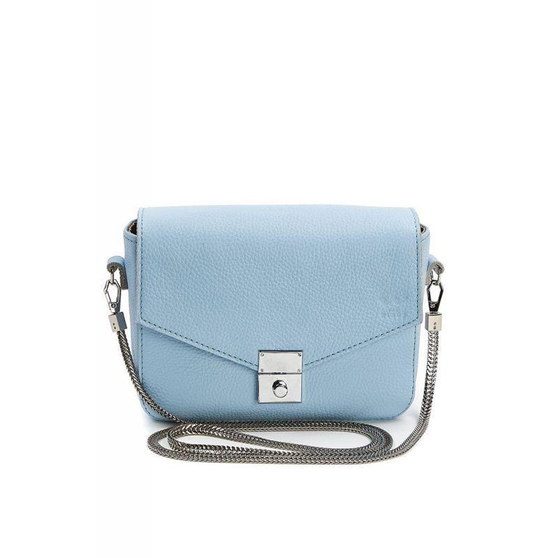 Женская кожаная сумочка Yoko голубая флотар