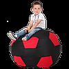 Безкаркасне крісло-м'яч 100х100 (чорний/червоний) Oxford 600 Den