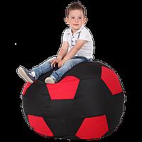 Безкаркасне крісло-м'яч 100х100 (чорний/червоний) Oxford 600 Den, фото 1