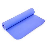 Килимок для йоги та фітнесу Yogamat TPE+TC 6мм SP-Planeta FI-4937, Зелений Фіолетовий, фото 1