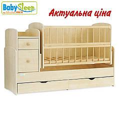 Детская кроватка-трансформер Baby Sleep Angela DTP-S-B Naturholz (натур)