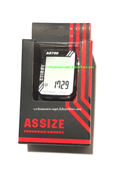 Велокомп'ютер провідний ASSIZE AS700 (11 режимів)
