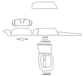 Комплект викрійок для салону BMW 3 2019