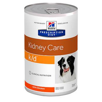Консерва Hill's PD k/d для собак при почечной и сердечной недостаточности с курицей, 370 г