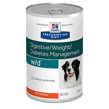 Консерва Hill's PD w/d для собак при сахарном диабете с курицей, 370 г